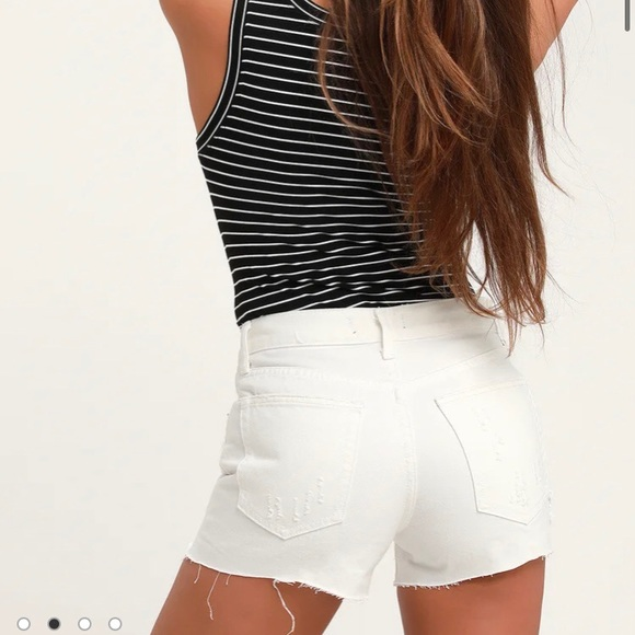 Free People | Button Fly High Rise Jean Shorts